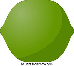 Lime fruit icon - fruit icon, chubby squarish style...