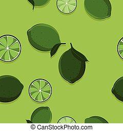 Lime fruit illustration