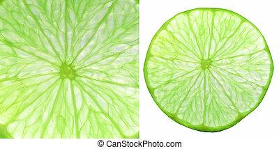 lime fruit slice collage