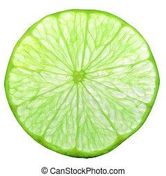 lime fruit slice