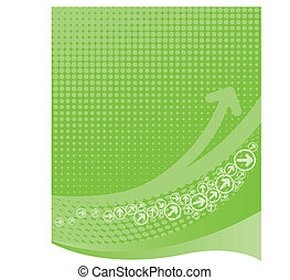 Lime green background with halftone. Vector Illustration