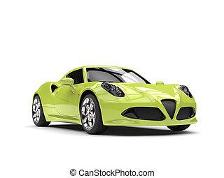 Lime green modern sports car