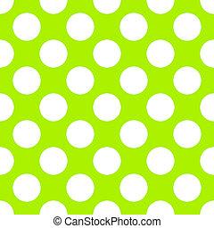 Lime Green Polka Dot Seamless Paper Pattern
