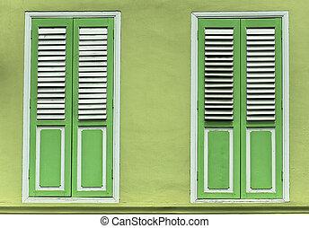 Lime Green Some Kinda Orange - Brilliant Lime Green shutter...