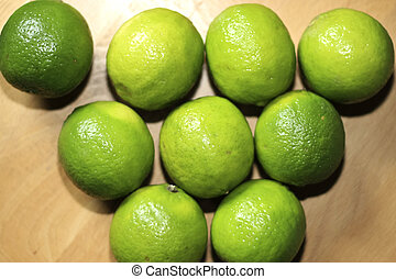Lime in a row