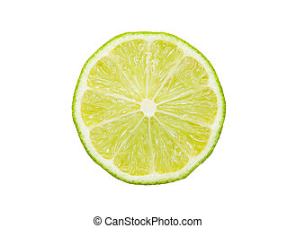 Lime isolated on the white