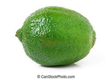 lime isolated on white background close up