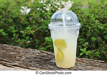 Lime juice with soda