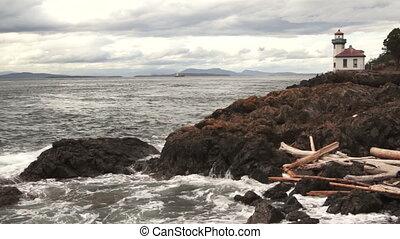 Lime Kiln Lighthouse Haro Strait Maritime Nautical Beacon -...