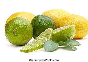 lime, lemon and leaf