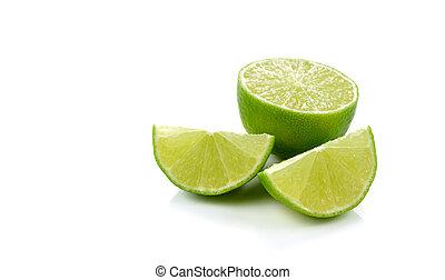 lime lemon fruit isolated on white background
