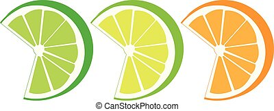 lime lemon orange slices