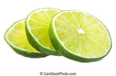 lime on a white background