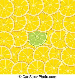 Lime & Orange Fruit Slice Background