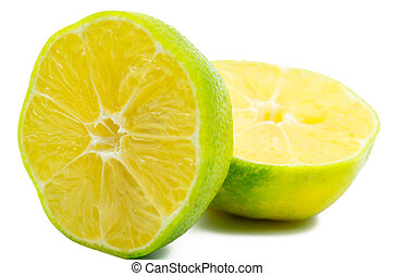 Lime slice isolated on white background with clipping path. Natural source of vitamin C
