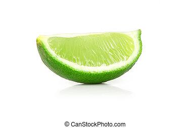 lime slice closeup