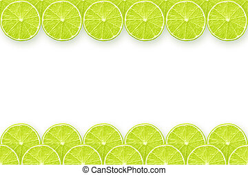 lime slices frame