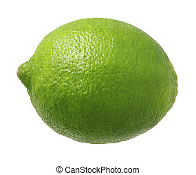 Lime - A photo of a single lime isolated on a white...