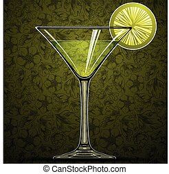 lime., verde, cocktail