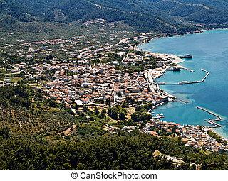 Limenas, Thassos, aerial view