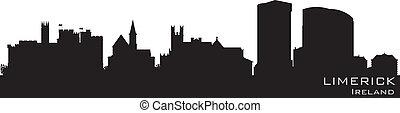 Limerick, Ireland skyline. Detailed vector silhouette