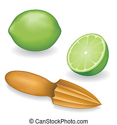 Limes and Wood Fruit Reamer