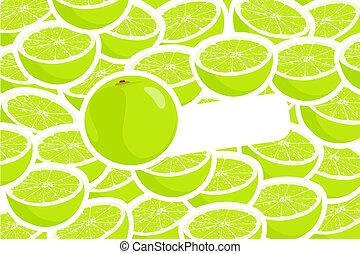 Limes cut up.