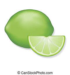 Limes - Fresh, natural lime, lime slice. EPS8 compatible....