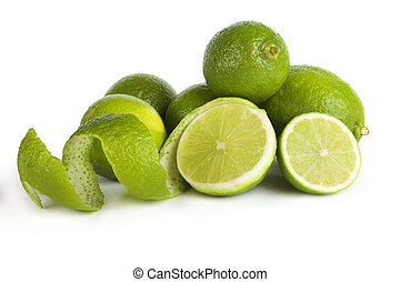 Limes - Picture of limes isolated on white background