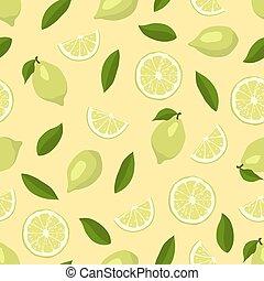 Limes seamless pattern