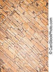 limestone brickwall - Outside natural limestone brickwall...