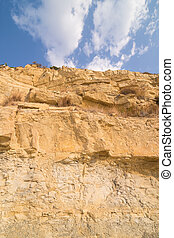 Limestone cliff - Low angle take of a huge limestone cliff