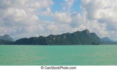 Limestone cliffs in the bay.