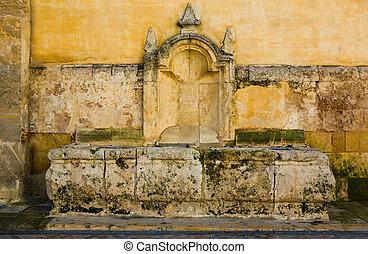Limestone fountain in Cordoba