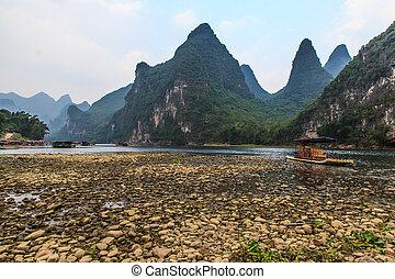 Limestone hills at the Li river