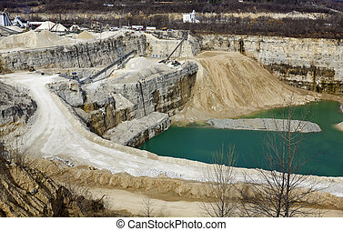Limestone Quarry - view from the top of the wall