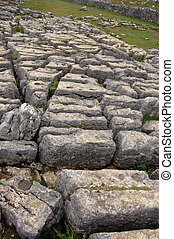Limestone rocks above Malham - The weathered limestone rocks...