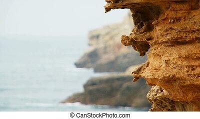 Limestone Rocks of Cape Tarkhankut At Black Sea