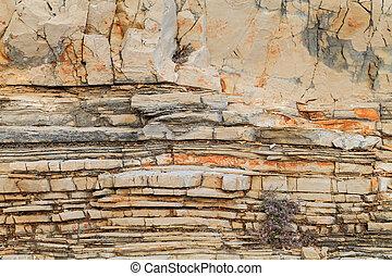 Limestone texture background - Close up photo of limestone...
