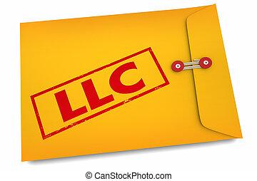 limité, documents, business, société, illustration, responsabilité, llc, 3d