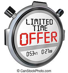 limité, offre, vente, clerance, escompte, économies, temps, événement