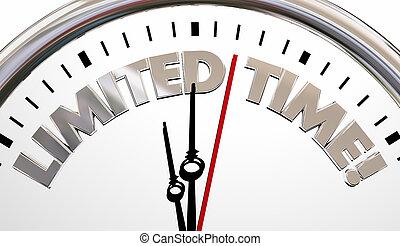 limité, pointeuse, date limite, compte rebours, mots, 3d, illustration.jpg