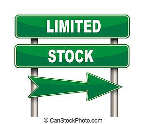 limité, stockage, vert, panneaux signalisations