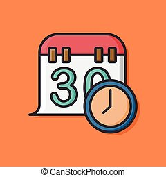limit calendar icon vector