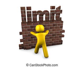 Limit - 3d image, conceptual, pushing the limit