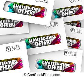 limitado, tiempo, oferta, sobres, chatarra, correo directo,...