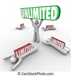 limitato, abilità, libertà, illimitato, do, vs, restrizioni,...