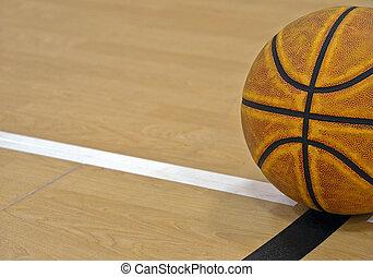 limite, basket-ball, ligne