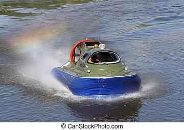 limite, bateau, coussin, air