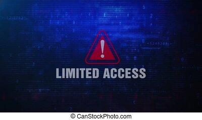 Limited Access Alert Warning Error Message Blinking on...